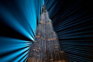 Burj Khalifa, Nowy Rok i pokazy świateł i laserów
